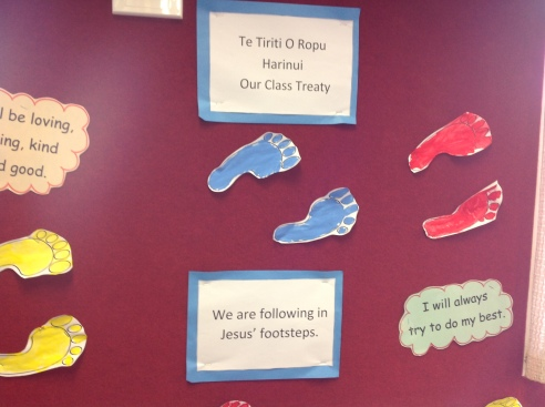 We made a class Treaty. We all want to 'Follow Jesus.'